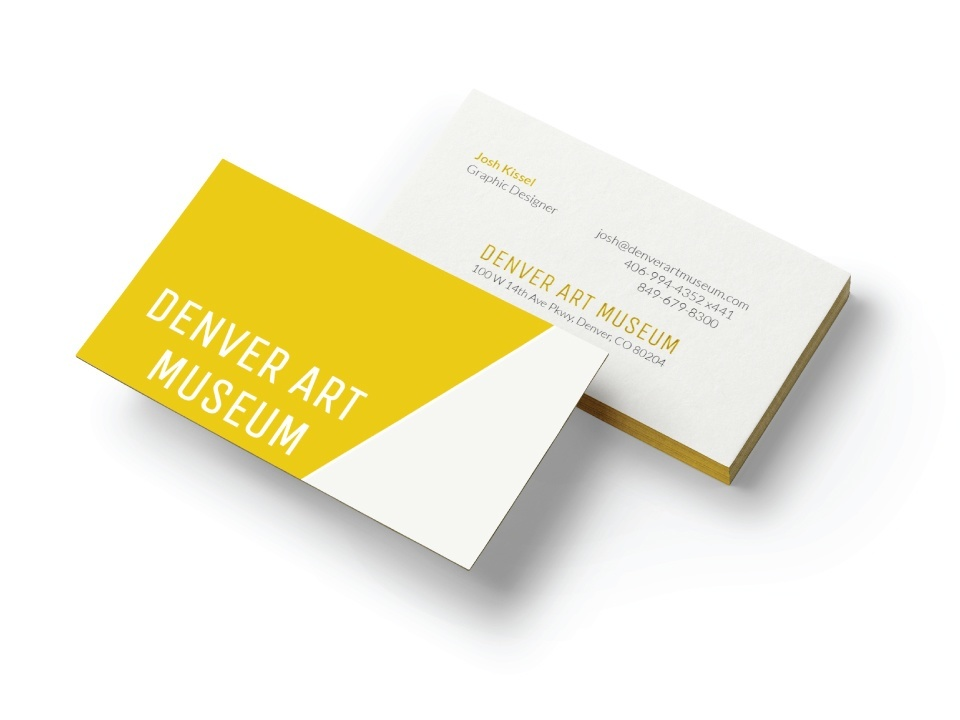 denver art museum business card - Business Cards Denver